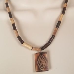 Jewelry - Handmade Wooden Long Bead Necklace
